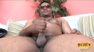 Chunky Black Stud Cash Montague Eating spitting