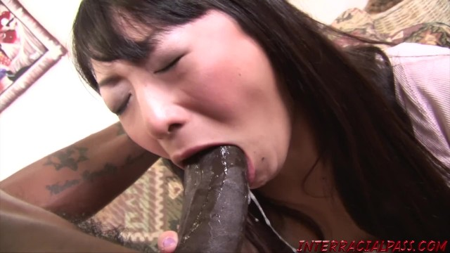 My wifes fucking blackzilla Asian wife takes huge black cock and swallows bbc cum