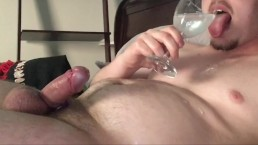 Romanian Camgirl JOI CEI, Femdom Light CBT, Drinking Cum! Cock Ring Cumslut