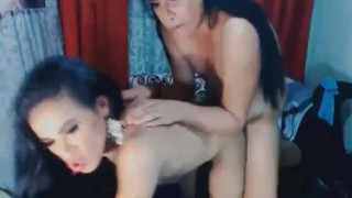 Horny Asian Tranny Gets Her Sexy Hole Banged Blowjob threesome