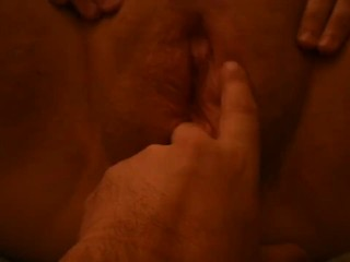 Daddy plays with my pussy