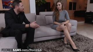 FootsieBabes Busty Babe Lena Paul Gets Cummy Feet After Fuck