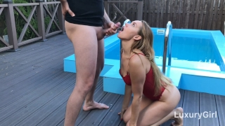 LuxuryGirl Wants My Cock And Cum All Over Her Face! Blowjob public