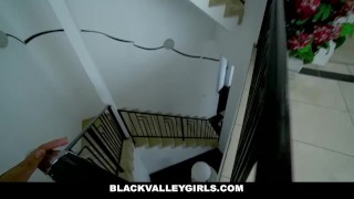 BlackValleyGirls - Blasian Bounces Her Ass  point of view black asian small black tattoo young interracial reality petite shaved teenager frame blasian natural tits bubble butt blackvalleygirls