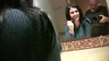 En el lavabo con la cachonda madurita española Montse Swinger