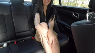 Hot girl masturbating on back seat of the car and wasn't caught - Mini Diva Doggystyle over