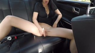 Hot girl masturbating on back seat of the car and wasn't caught - Mini Diva Chubby friend