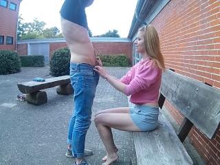 Bethanie playboy puplic footjob & tissue fetisch !!!, kink public outside footjob
