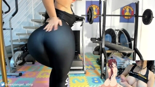 BRAZILIAN GIRL JOI JERK OFF ON GYM PUNHETA GUIADA GOSTOSA NA ACADEMIA