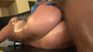 sexy pawg slut gets pounded hard by monster bbc