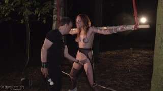 Fetish orgasm screaming slave fucked master and up tied vs rough up