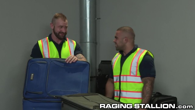 Finding gay website - Two fetish baggage claimers find toys in suitcase use them