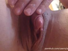 Huge Clit - Oil Masturbation
