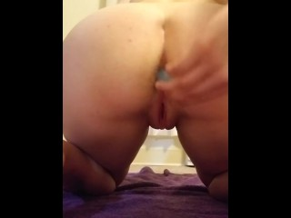 College Teen Masturbating with Anal Plug