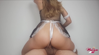 He Came inside his latin Maid !! Extreme amateur