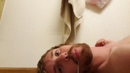 Self facial, my nice load drips out of my mouth!