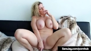 Busty Big Butt Milf Sara Jay Works Out Her Throbbing Pussy!
