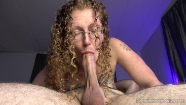 Hubby gives natural redhead MILF Ivy a pulsating cum in mouth while 69'ing