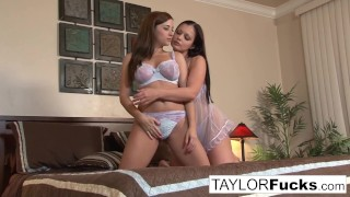 Taylor And Aria In Bed porno