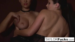 Taylor And Aria In Bed Slim erotic
