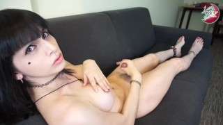 Luna shemale slut challenges you to an edging challenge #1 Anal snowballing