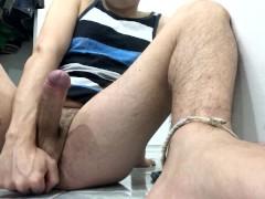 masturbation, pee and cum from hot guy