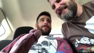 Gran porno - Daddy Sucks Boy's Big Dick In The Backseat