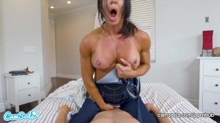 Mom rides stepson and begs for creampie Toy barn