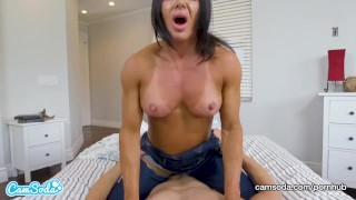 Begs stepson creampie rides for and mom mom nipples