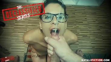 Huge and Massive Facial for pretty girl with glasses - Natali Fiction