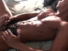 Straight Guy Masturbates & Eats His Own Cum