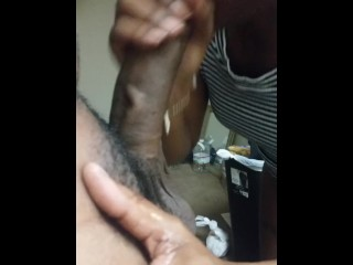 She sucked my thick dick so good I dropped the phone