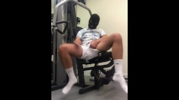 Jerking Off wearing Boxing Gloves at the gym ** Cumshot **