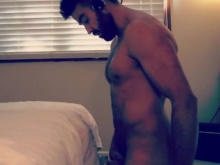 Straight uncut wolf daddy moans while fucking transparent fleshlight