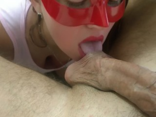 Awesome Blow Job from my lovely wife - Amateur Russian couple