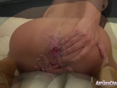 Adriana Chechik stretches her holes with toys