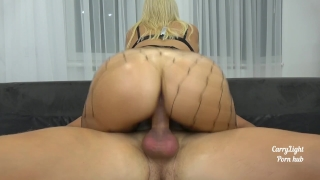 Riding compilation with creampies by Amateur couple Carry Light Big cowgirl