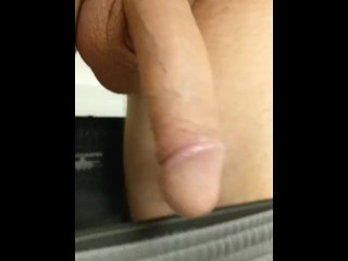 Bouncing cock and balls til hard