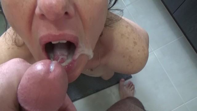 Blowjob fail - Failed swallow, too much cum in my mouth
