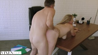 VIXEN Side Chick Surprises Her Sugar Daddy At Home  doggy style riding reverse cowgirl spoon suck vixen sucking blowjob blonde big dick milf reality spooning exclusive facial big boobs tit wank