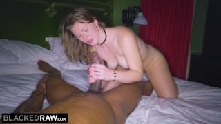 BLACKEDRAW GF cheats with the BIGGEST cock she's EVER seen Blowjob mia