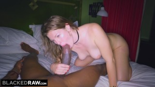 BLACKEDRAW GF cheats with the BIGGEST cock she's EVER seen Teen doggystyle