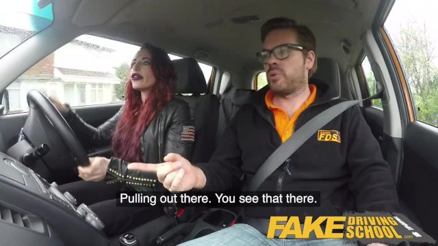 Adult driving lesson in michigan Fake driving school crazy hot redhead fucks car gearstick after lesson