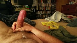 Morning wank, thick dripping load