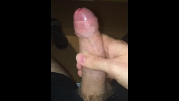 Young Male Teasing His Cock Until He Cums Hard