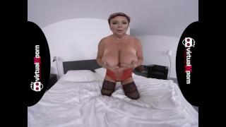 BBW redhead Mature masturbating
