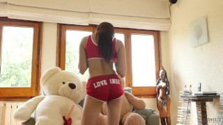 Fitness and Sex with asian girl Miyuki and 2 teddy bears, cum in mouth  brazilian asian jizz fitness milf japanese 3some swallow sex porn muscle teddy bears adult toys plushiestv plushies plush