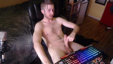 BIG UNCUT DICK EDGING AND JERKING OFF FOR OVER A HALF HOUR (NO CUMSHOT)