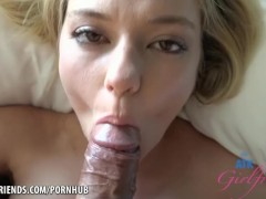 You fuck Chloe Foster so good, and cum on her face again