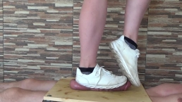 Sneakers Cock Balls Trampling Crushing - CBT Trample
